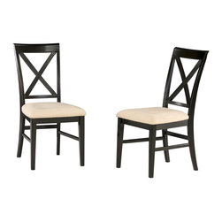 Atlantic Furniture - Atlantic Furniture Lexington Side Chair in Espresso (Set of 2) - Atlantic Furniture - Dining Chairs - AD772101 - The Atlantic Furniture Lexington Dining Side Chairs are constructed from Eco-friendly solid hardwood and have an elegant Espresso wood finish. This set of two dining side chairs feature a cross back design and an Oatmeal colored seat cushion. The Lexington Dining Side Chairs are perfect for a casual dining room setting.