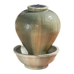 Mini Vase Garden Fountain, Celano - Surround this Mini Vase Garden Fountain with plants or flowers to tantalize the vase's artful design.
