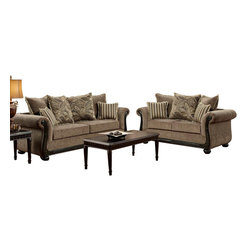 Chelsea Home Furniture - Chelsea Home Lily 3-Piece Living Room Set in Dream Java - Lily 3-Piece living room set in Dream Java belongs to Verona I collection by Chelsea Home Furniture