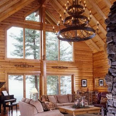 rustic lighting « Real Log Style