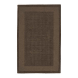 """Nourison - Nourison Westport WP20 3'6"""" x 5'6"""" Mocha Area Rug 72303 - Delicate textural contrasts bring subtlety to life in this modern classic rug design. A double border in darker and lighter shades of warm mocha frames a texturally toned center panel. This perfect expression of elegant simplicity makes your good taste the centerpiece of the room."""