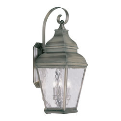 Livex Lighting - Livex Lighting 2605-29 Exeter Wall Light Vintage Pewter - -Finish: Vintage Pewter
