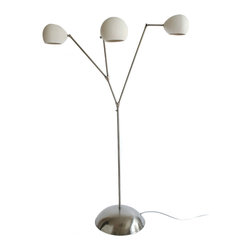 "Lightexture - Claylight Floor Lamp, Dot Pattern - Earthy. Organic. Modern. Eclectic. This floor lamp is a one-of-a-kind addition to your room. Three handmade, perforated white clay shades cast starry patterns above and direct light anywhere you need it with pivoting heads. The adjustable metal ""branches"" and base add sleek design and functionality that are sure to wow."