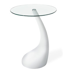 Zuo Modern - Zuo Jupiter Bistro Table in White - Bistro Table in White belongs to Jupiter Collection by Zuo Modern A cute and funky table, Jupiter comes in a bistro for serving two seats. It is made with an ABS plastic body with a tempered clear glass top. Bistro Table (1)