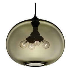 Niche Modern - Terra Modern Pendant - Fill your home with a warm glow from this modern pendant. The four bulbs included with the fixture emit a beautiful and unique jewel-toned light. You will delight in the elements of earth, water, wind and fire that come alive in this piece.