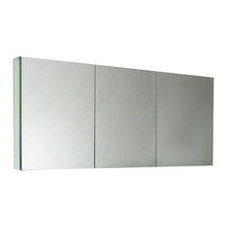 "Fresca - Fresca 40"" Wide Bathroom Medicine Cabinet w/ Mirrors, 60"" - Fresca 60"" Wide Bathroom Medicine Cabinet w/ Mirrors"