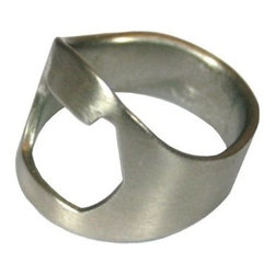 Ring Thing Bottle Opener, Stainless Steel, Size 12 - At first glance, this looks like just an interesting silver ring; however, this ring also serves a fun purpose. Give this to your man for Valentine's Day, and he'll never be without a bottle opener. It's such a fun and unique gift.