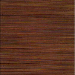 Xue Fang Dark Brown Grasscloth Wallpaper - This deliciously warm espresso brown grasscloth wallpaper lays an exotic and nuanced bamboo texture on your walls in all natural materials.