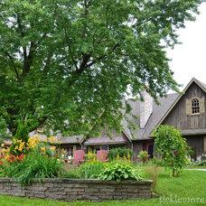 Farmhouse Exterior by R E Ringwald Design Build