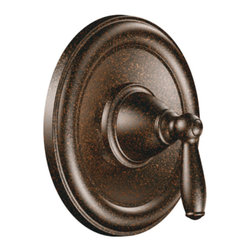 """Moen - Moen T2151ORB Brantford Positemp Valve Only Trim - Oil Rubbed Bronze - Moen T2151ORB is part of the Brantford bath collection. Moen T2151ORB is a new bathroom decor style by Moen. Moen T2151ORB has an Oil Rubbed Bronze finish. Moen T2151ORB Posi-Temp valve only trim fits any MPact common valve system or MPact Posi-Temp 1/2"""" valve available separately. Moen T2151ORB is part of the Brantford bath collection, featuring its beautiful look and timeless appeal. This collections traditional style complements any homes decor. Moen T2151ORB valve trim includes single-function pressure balancing Cartridge. Back to back capability. Moen T2151ORB is a single handle valve trim only, the handle adjusts temperature. Moen T2151ORB valve only single handle trim provides for ease of operation. Moen T2151ORB Posi-Temp pressure balancing valve maintains water pressure and controls temperature. Moen T2151ORB is approved by ADA. Oil Rubbed Bronze is an exclusive finish from Moen and provides style and durability. Moen T2151ORB metal lever handle meets all requirements ofADA ICC/ANSI A117.1 and ASME A112.18.1 M/CSA B-125.Lifetime Limited Warranty."""