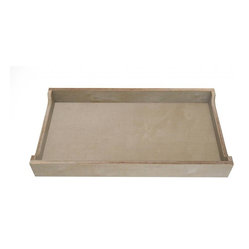 Spot on Square - Ulm Changing Tray - The Ulm Changing Tray fits on top of the Ulm dresser. Smartly designed to attach from the back side, ensuring the fasteners are unseen yet completely secure. When no longer needed, the tray can be easily removed leaving no trace of having been attached.