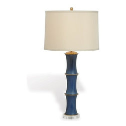 Regency Bamboo Hollywood Lamp - This wonderful faux bamboo lamp is available in six colors. Use a pair in the bedroom.