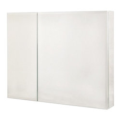 Pegasus - Pegasus Bi-View Beveled Mirror 30W x 26H in. Medicine Cabinet SP4584 - 511280 - Shop for Bathroom Cabinets from Hayneedle.com! Give your bathroom essentials a first-class home with the Pegasus Bi-View Beveled Mirror 30W x 26H in. Medicine Cabinet SP4584. Inside two mirrored doors with a beveled finish you'll find six adjustable shelves and a mirrored interior. Each door opens wide on heavy-duty hinges and the body of the cabinet is constructed of rust-proof aluminum. This cabinet can be flush-mounted or hung directly on the wall using the included hardware.About PegasusThink Pegasus when it comes to kitchen or bath needs. Pegasus is widely known for their signature faucets unique bath accessories and furniture vanities mirrors pedestal sinks toilets and kitchen sinks. Pegasus offers special collections featuring products that coordinate with an elegant yet sophisticated style. With designs spanning from tasteful and traditional to streamlined and contemporary Pegasus provides high-quality products and fixtures for a reasonable cost and promotes the philosophy of luxury without the extravagance.