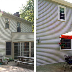 Replacement Vinyl Windows - Before & after replacement vinyl windows & siding