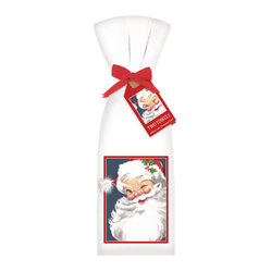 Winking Santa Towel, Set of 2