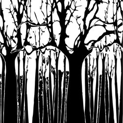 Murals Your Way - Trees - Black & White Wall Art - Painted by Estela Lugo, the Trees - Black & White  wall mural from Murals Your Way will add a distinctive touch to any room