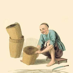 "Buyenlarge.com, Inc. - Basket Weaver- Paper Poster 20"" x 30"" - Another high quality vintage art reproduction by Buyenlarge. One of many rare and wonderful images brought forward in time. I hope they bring you pleasure each and every time you look at them."