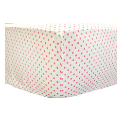 New Arrivals - New Arrivals Crib Sheet - Ragamuffin in Pink - The New Arrivals Crib Sheet - Ragamuffin in Pink is a perfect match for your New Arrival Crib Bedding Set. Size 27.5W x 51L x 8H Fits Standard Size Crib Mattress. Custom made in the USA. Please allow 3 - 4 weeks for delivery.