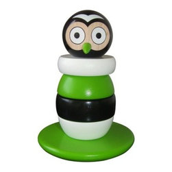 Discoveroo Magnetic Wooden Stacking Owl - The wise old owl painted on the Discoveroo Magnetic Wooden Stacking Owl is sure to stimulate little minds. A fun twist on the traditional stacker, this owl toy has five rings with the owl's face up top. Hidden magnets in each ring offer a fun challenge, too, and the toy is crafted of sustainable plantation wood. Recommended for little ones 18 months to three years.About Flat River GroupDistributing to over 10,000 storefronts, Flat River Group is dedicated to building strong relationships with key retailers across the country. Their full-service wholesale distribution streamlines operations while decreasing costs. Their cutting-edge software, information systems, and unique shipping capabilities allow them to store, package, and ship products to their clients with ease. The result? The best in sales, inventory, and fulfillment.