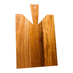 """Dutch Style Mahogany Wood Cutting Board - Very authentic Dutch style old fashioned Mahogany wood cutting board 12 x 16"""" with prolonged handle. 3/4"""" thick. Unique wood grains. Resistant for stains or water or rough cutting."""