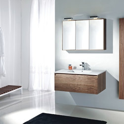 """Desana - Modern Bathroom Vanity Set 38.6"""" - The Desana is a Modern Bathroom Vanity Set that embraces the latest trend in luxury modern bathroom design by incorporating sophisticated designs and shapes into every bathroom. This Modern Bathroom Vanity boasts sleek lines that create an eye catching element to any home."""