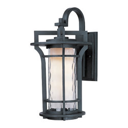 Maxim Lighting - Maxim Lighting 30485WGBO Oakville Black Oxide Outdoor Wall Sconce - 1 Bulb, Bulb Type: 100 Watt Incandescent