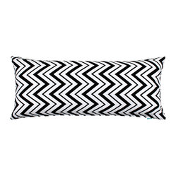 Chevron Black and White Body Pillow Cover