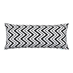 LaCozi - Chevron Black and White Body Pillow Cover - Some body! This 100 percent cotton cover in a zingy zigzag print just made your favorite 20-by-54-inch pillow even more fun to hug.