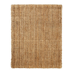 Everest Natural Jute Rug - Jute brings a magnificent, chunky texture to any space. These rugs are expertly handloom-woven by skilled weavers who employ a variety of traditional techniques to create these simply beautiful styles. Jute fibers exhibit naturally anti-static, insulating and moisture regulating properties. It is predominantly farmed by approximately four million small farmers in India and Bangladesh and supports hundreds of thousands of workers in jute manufacturing (from raw material to yarn and finished products).
