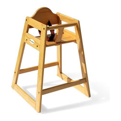 Foundations - Foundations Classic Wood Hardwood High Chair - Natural - 4501049 - Shop for Highchairs from Hayneedle.com! Whether you own a daycare or restaurant - or merely feel like you do - the Foundations Classic Wood Hardwood High Chair - Natural will meet the needs of your younger clientele. This high-quality high chair features a natural finish that will top off any decor while the rounded edges of its solid hardwood frame complete the expert workmanship. A dual-action buckle and adjustable harness will keep children safe and you in business during peak dinner hours. No-skid rubber feet are fixed on each leg so you don't have to stress about scratched floors or accidental slips.
