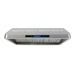 """XtremeAir - Pro-X PX10-U42 42"""" Under Cabinet Range Hood With LCD Control Display  Smog Detec - Give your kitchen a sweet upgrade with this under-cabinet mount range hood from XtremeAir USA This stainless steel non-magnetic hood features LED lights and a baffle filter with grease drain tunnel"""