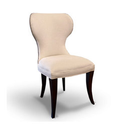 Barkley Dining Side Chair - A perfectly proportioned chair for the small dining room. Incredibly contained withing 19 inches the Barkley offers unparalleled comfort and sensual forms to adorn and enhance you dining appointments.