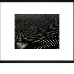 """Hip Pictures - """"Stars Aligned"""" - 11x14 - Eco-Friendly Black Rubberwood Frame 16x20 - This is not a digital composition , sometimes, light itself can become art. Bulbs, reflections and the 'imperfections' to the alignment make this special for me."""