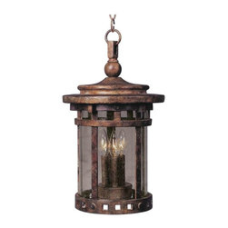 Maxim Lighting - Maxim Santa Barbara Cast 3-Light Outdoor Hanging Lantern Sienna - 3138CDSE - Santa Barbara Cast is a transitional style collection from Maxim Lighting Interior in Sienna Finish with Seedy glass.