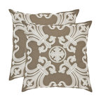 Safavieh Home Furniture - Margaret 18-Inch Khaki Decorative Pillows, Set of 2 - -Adorn your bed, sofa, or favorite reading chair with a refreshing geometric design from Safavieh. This eye-catching pillow will marry perfectly with your existing d�cor, adding lasting style for years to come.  - Please note this item has a 30-day manufacturer's limited warranty that covers product defects. Inspect your purchase upon delivery and notify us immediately with any concerns. Safavieh Home Furniture - PIL155A-1818-SET2