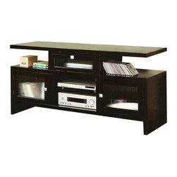 "ACMACM10122 - Jupiter Espresso Finish Wood Folding TV Media Stand Console - Jupiter Espresso Finish Wood Folding TV Media Stand Console. Measures 60"" x 20"" x 30""H. Some simple assembly required."