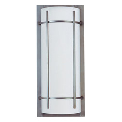 Maxim Lighting - Maxim Lighting 85216WTBM Luna Energy Efficient 2 Light Outdoor Wall Lights in Br - Luna EE, a contemporary style collection from Maxim Lighting, features both indoor and outdoor sconces, pendants and flush mounts available in three finishes, Brushed Metal, Natural Iron or Oil Rubbed Bronze.