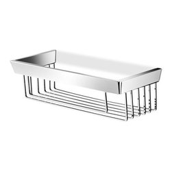 Italbrass - Kone Single Shower Basket | Italbrass - Made in Italy by Italbrass®.A part of the Kone Collection. The Kone Single Shower Basket has a useful open form that allows water to drain out easily. The basket can easily be mounted in the shower to virtually any wall material while its solid-brass construction resists rust and corrosion.  Product Features: