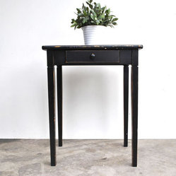 Vintage Black Side Table by Charlie