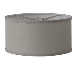 14 Inch Euro Fitter Linen Drum Shade -