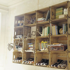 eclectic  Apple Crate Shelving