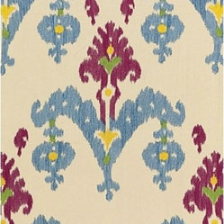 Raja Embroidery Fabric, Jewel