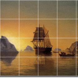 Picture-Tiles, LLC - An Arctic Scene Tile Mural By William Bradford - * MURAL SIZE: 32x48 inch tile mural using (24) 8x8 ceramic tiles-satin finish.