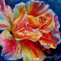 """Summer Fragrance""  (Original) by Chris Brandley - The beautiful fragrance of a rose reminds of warm summer days."