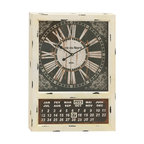 Vintage Metal Calendar Clock - Are you looking for antique metal calendar clock for your abode? Get this and adorn your interiors gracefully. Made of quality materials this calendar clock will last for long and is easy to maintain. This is in Rectangular shape with the dial pad at top and the calendar at the bottom. The dial pad has floral theme artistic work. The rustic and contrasting black and off-white color gives adorable appeal to the clock. This exclusive metal calendar clock shall add touch of creativity to your room space. You can adorn the bare walls of your living space with this charming calendar clock. You can also adorn the interiors of your workplace by fixing this metal calendar clock. This clock will grab attention of many and also make you win appreciations from them. The metal calendar clock can be gifted to your friends and family or those who appreciate creativity. It is a must accessory if you wish to add creativity to your room or any other space.