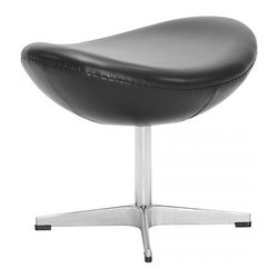Fine Mod Imports - Inner Black Leather Ottoman - Features:
