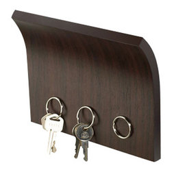 Magnetter Key Holder - The Magnetter Key Holder is not only a key holder, but also a letter holder.  Just hold up your key ring to the Magnetter and it automatically grabs your keys. The invisible strong magnet strip along the lower part of the Magnetter holds several sets of keys.