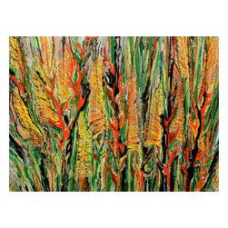 Kozyuk Gallery - Tropical Flowers, Painting - Title: Tropical Flowers