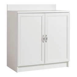 akadaHOME - akadaHOME Multipurpose Laundry 2-door Base Cabinet - Organize your laundry room with this white laundry room cabinet from akadaHOME. The multipurpose base cabinet provides ample storage and features one adjustable shelf so you can maximize the space,and the metal hardware adds a modern touch.