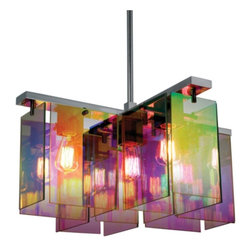 Tropical Beach Prism 5 Light Pendant Chandelier 3175-13 - ORDER THIS COLORFUL CHANDELIER PENDANT ON HOUZZ AT LEE LIGHTING.